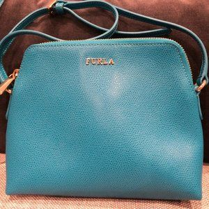 Furla Leather Cross Body Bag Turquoise Size OS
